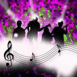 Dança da música Foto de Stock