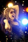Dança da mulher nova Imagem de Stock Royalty Free