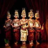 Dança de Apsara, Cambodia Foto de Stock Royalty Free