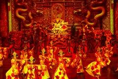 A dança do banquete no palácio da música Fotografia de Stock