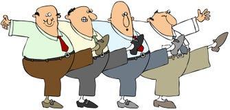 Dança dos homens idosos Imagens de Stock Royalty Free