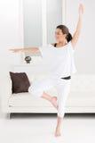 Dança em casa. Fotos de Stock Royalty Free