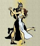 Dança grega do tango dos pares Fotografia de Stock