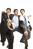 Dança louca dos homens de negócios Foto de Stock Royalty Free