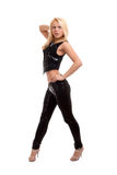 Dança loura nova 'sexy' da mulher Imagem de Stock Royalty Free