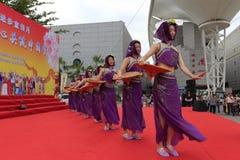 Dança - mulheres do condado de huian Fotografia de Stock