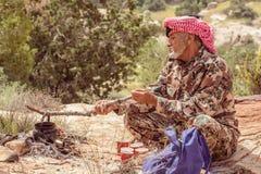 DANA NATURE RESERVE, JORDAN - APRIL 27, 2016: Arabic man Stock Images