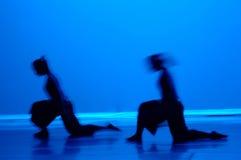 Dança no azul Imagens de Stock