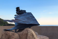 Dana Point Bronze Hide Drogher statue Royalty Free Stock Photography