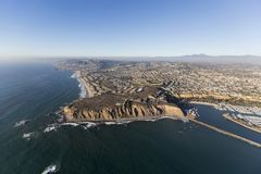 Dana Point California Aerial. Aerial view of Dana Point on the Southern California pacific coast Royalty Free Stock Photography
