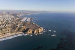 Dana Point California Coast Aerial. Aerial view Dana Point in Orange County on the Southern California coast stock photo