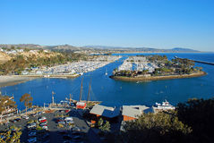 Dana Point Harbor, Southern California. The image shows the spectacular Dana Point Harbor, Dana Point, California. The building at the bottom of the image is The Royalty Free Stock Photo