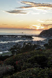 Dana Point harbor view of the sunset Royalty Free Stock Images