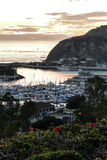 Dana Point harbor view of the sunset Stock Photography