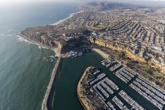 Dana Point Marina Aerial View. Aerial view of Dana Point park and marina in Orange County, California Stock Images