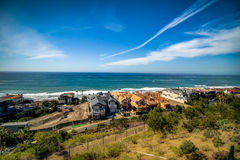 Dana Point Ocean View. San Clemente California Beach view from the top of the Strand vista park at Dana Point in February royalty free stock images