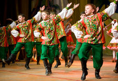 Dança popular do russo Imagens de Stock