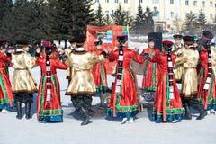 Dança redonda em Shrovetide Fotografia de Stock