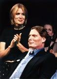 Dana Reeve en Christopher Reeve Stock Foto's