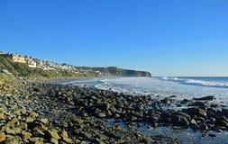 Dana Strand Beach in Dana Point, Kalifornien lizenzfreies stockfoto