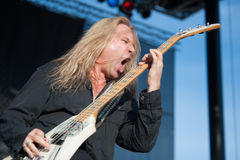 Dana Strum. LINCOLN, CA - June 15: Dana Strum with Slaughter performs at Thunder Valley Casino Resort in Lincoln, California on June 15, 2012 stock photography