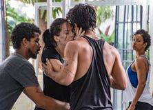 Danabierta,一个先驱舞蹈团在哈瓦那,实践Th 库存图片