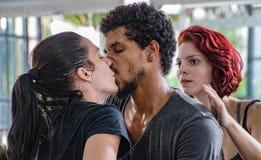 Danabierta,一个先驱舞蹈团在哈瓦那,实践Th 免版税库存图片