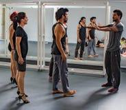 Danabierta, compañía de danza de la vanguardia en La Habana, practica el th Fotografía de archivo libre de regalías