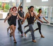 Danabierta, compañía de danza de la vanguardia en La Habana, practica el th Fotografía de archivo