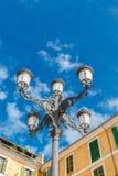 danad gammal gata för lampa palma för de mallorca majorca spain Fotografering för Bildbyråer