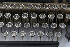 danad gammal skrivmaskin för tangenter Royaltyfri Fotografi