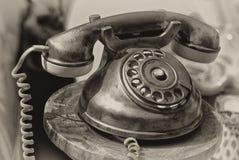 danad gammal telefon Fotografering för Bildbyråer