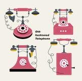 danad gammal telefonvektor Arkivbilder
