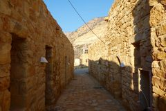 Danadorp in het Dana-biodiversiteitsnatuurreservaat in Jordanië, Midden-Oosten Royalty-vrije Stock Fotografie