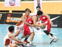 Danai Kongkum (w) neemt aan een ASEAN-Basketballiga deel  Royalty-vrije Stock Foto