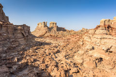 Danakil Depression desert near Dallol in Ethiopia Royalty Free Stock Photo