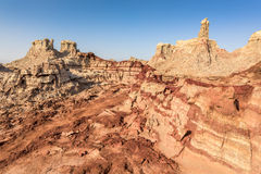 Danakil Depression desert near Dallol in Ethiopia Royalty Free Stock Image