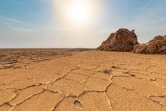 Danakil Depression, Ethiopia, Ale lake royalty free stock images