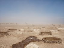 Water holes in the dessert stock photos
