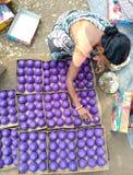 Danande av fyrverkerier för Dipawali Arkivbilder