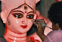 Danande av mor Durga Arkivbilder