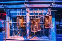 Danandet av Harry Potter är en offentlig dragning i Leavesden, London, UK som bevarar och ställer ut de iconic stöttorna royaltyfri bild