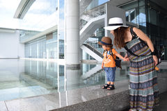 Danang air port and it is sunny day Stock Photos