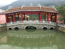 Danang Ba Na Hill Bridge. Asia Heritage Stock Image