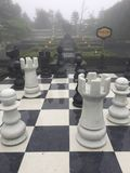 Danang Ba Na Hill. Outdoor chess board Royalty Free Stock Photos