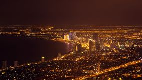 Danang downtown night view. The coastal city in central Vietnam, Asia. Time lapse video stock video footage