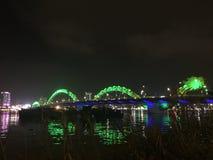 Danang Dragon Bridge Stock Afbeeldingen