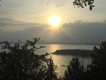 Danang Hilltop. Asia Heritage Peak Stock Images