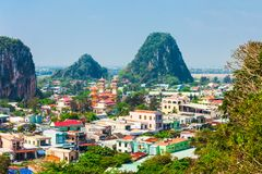 Danang marble mountains, Da Nang. Danang marble mountains is the most important tourist destination in Da Nang city in Vietnam royalty free stock images