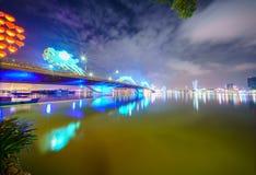 Danang stad i Vietnam Royaltyfria Bilder